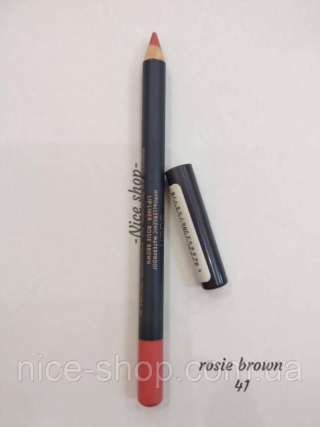 Карандаш для губ Rosie brown Lipliner Aden № 41, фото 2