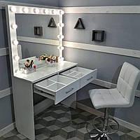 Стол для визажиста с двумя ящиками и разделителями внутри