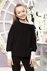 Школьная блузка черного цвета с длинным рукавом. , фото 3