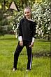 Школьная блузка черного цвета с длинным рукавом. , фото 2