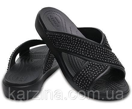 Women's Crocs Sloane Embellished Cross-Strap Sandal W8 (38размер)