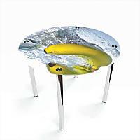 Стол кухонный стеклянный Круглый Banana 70х70 *Эко (БЦ-стол ТМ)