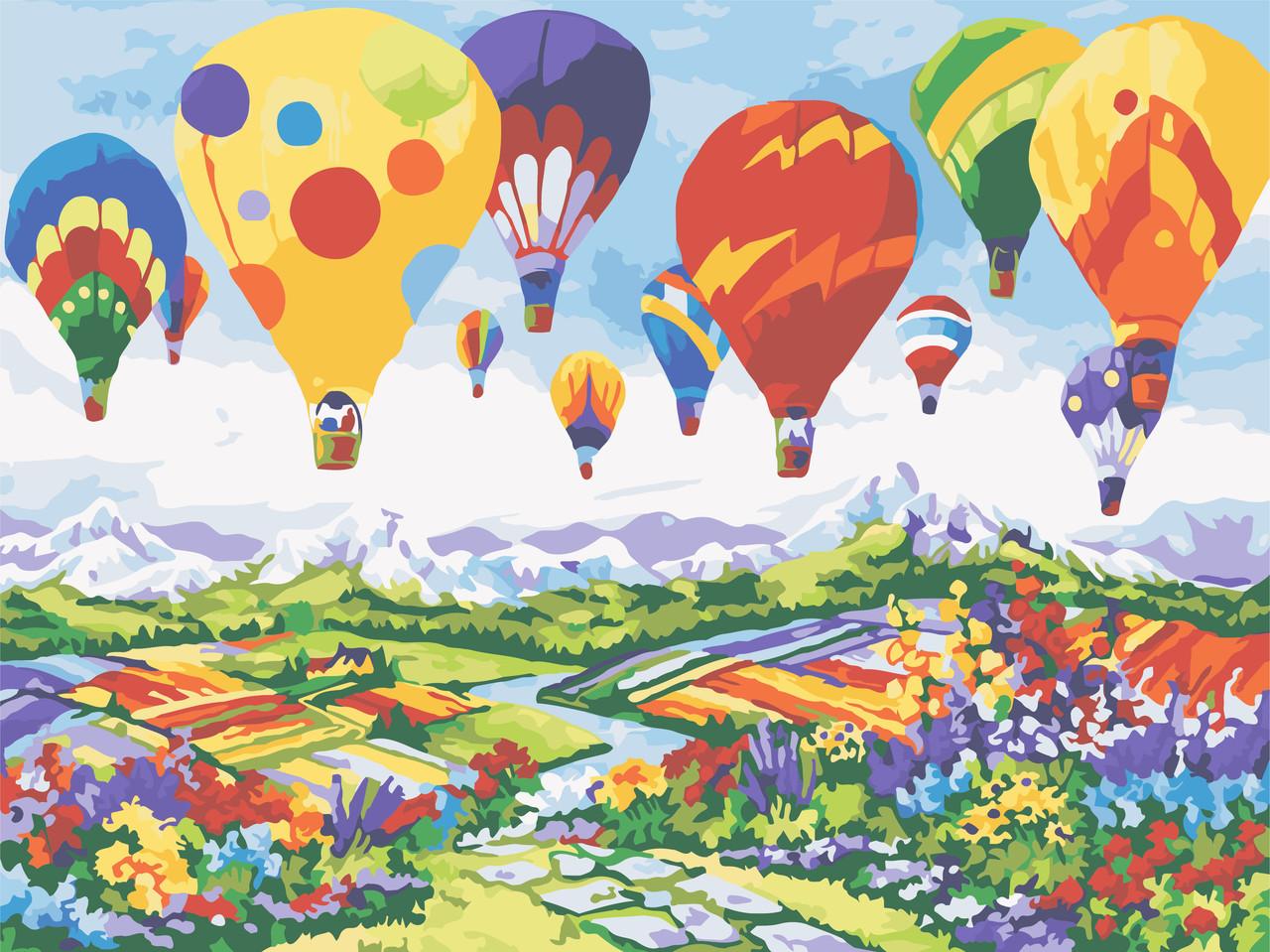 Раскрас по номерам Воздушные шары над Провансом ArtStory AS0598 30 х 40 см (без коробки)