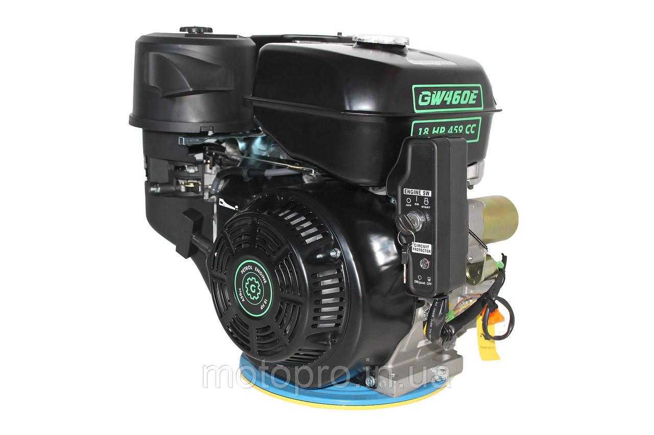 Двигатель Grunwelt GW460FE-S  / WM192FЕ-S, бензин 18,0л.с., шпонка