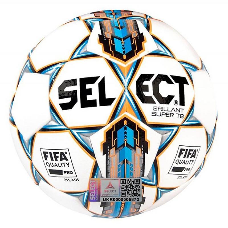 Футбольный мяч Select Brillant Super FIFA APPROVED белый размер 5