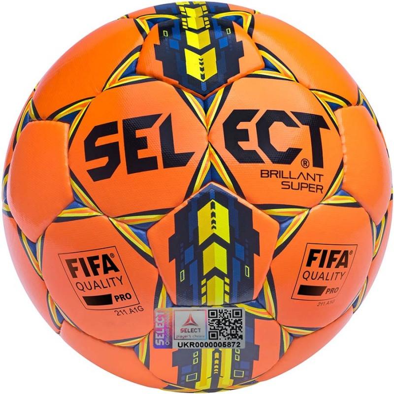 Футбольный мяч Select Brillant Super FIFA оранжевый размер 5