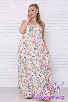 Женское летнее платье без рукавов (р. 42-90) арт. Горох, фото 2
