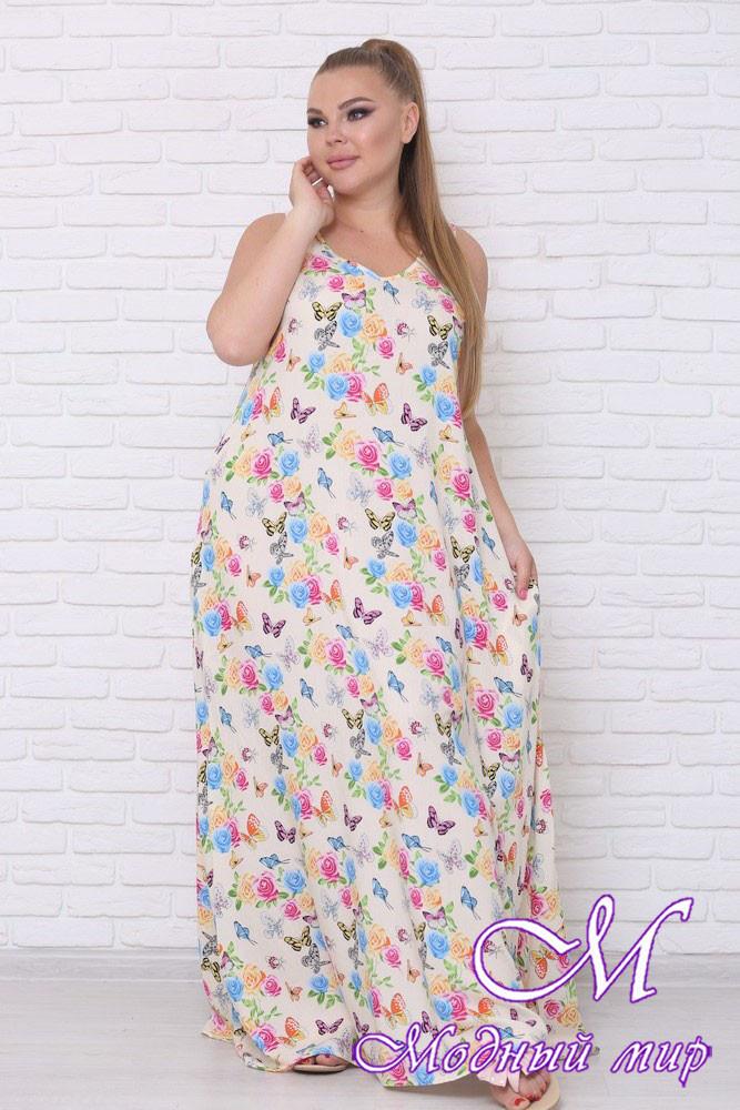 Женское летнее платье без рукавов (р. 42-90) арт. Горох