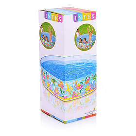 Детский каркасный бассейн Океан 183x38 Intex 56452