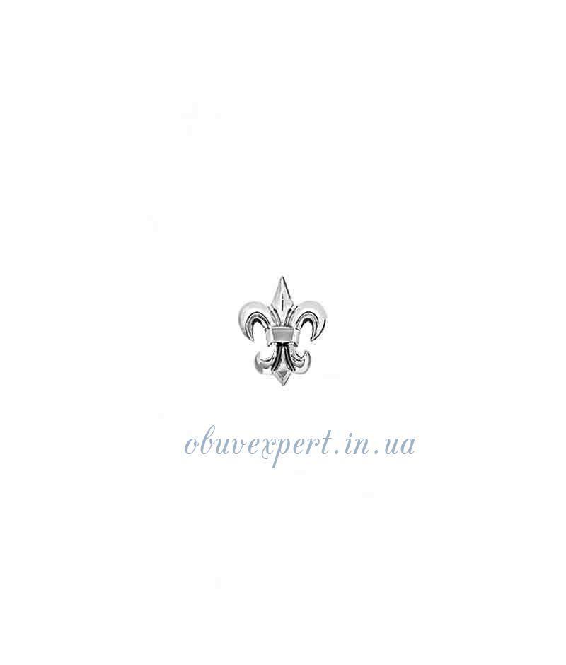 Декор мелкий Лилия 9*12 мм Серебро