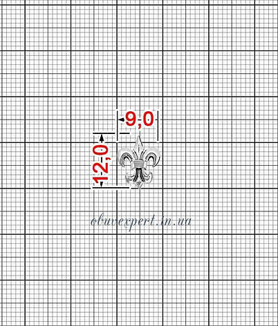 Декор мелкий Лилия 9*12 мм Серебро, фото 2