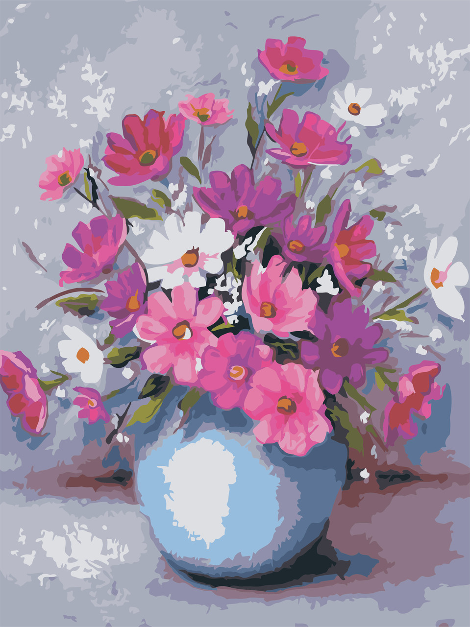 Рисование по номерам Цветы в вазе ArtStory AS0600 30 х 40 см (без коробки)