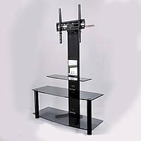 ТВ-тумба зі скла з кронштейном Смарт 900MX Bl (880/900х345х1250), фото 1