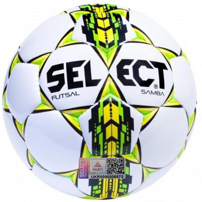 Футбольный мяч Select Futsal Samba белый размер 4