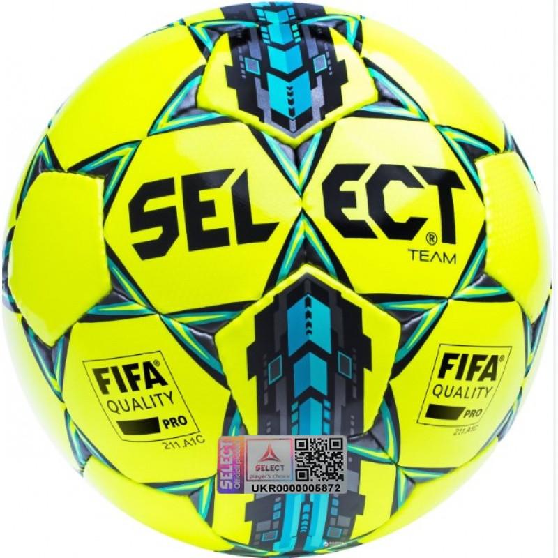 Футбольный мяч Select Team FIFA Quality желтый размер 5