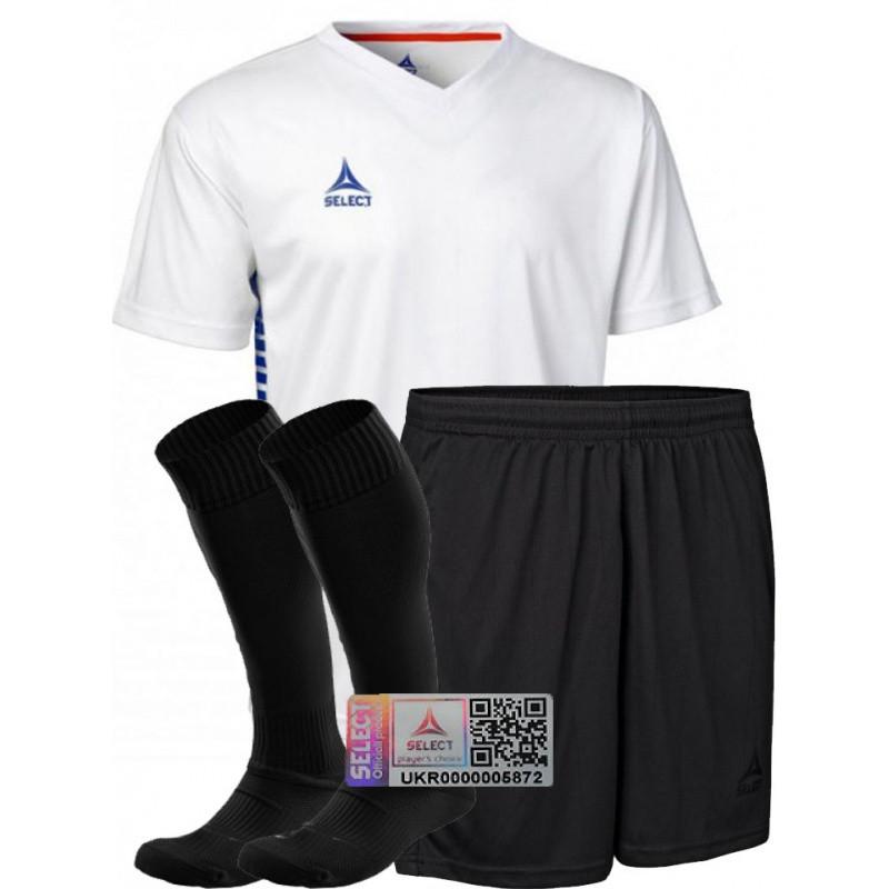 Комплект футбольной формы Select MEXICO (футболка+шорты+гетры)бело-черный