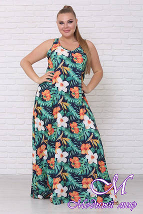 Женское платье на лето большого размера (р. 42-90) арт. Горох, фото 2