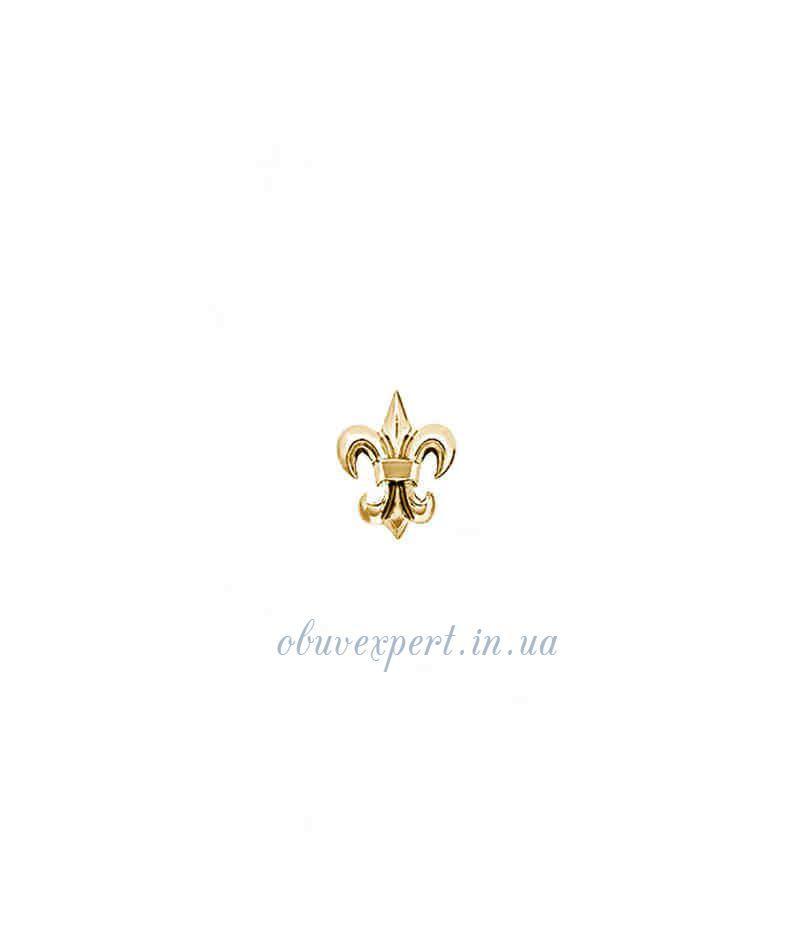 Декор мелкий Лилия 9*12 мм Красное золото