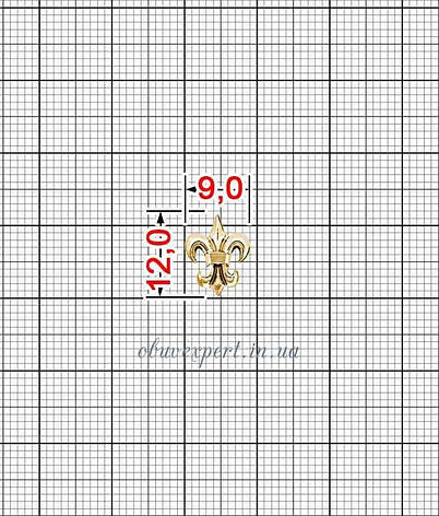 Декор мелкий Лилия 9*12 мм Красное золото, фото 2