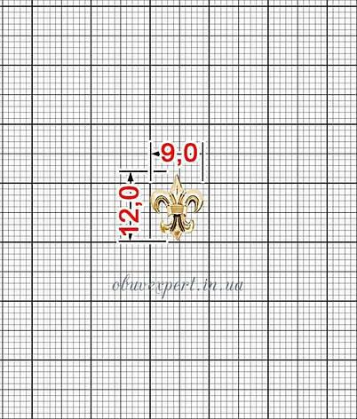 Декор невеликий Лілія 9*12 мм червоне золото, фото 2