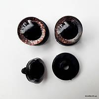 Глазки для игрушек, Акрил, 20 мм, Цвет: Коричневый (1 пара)