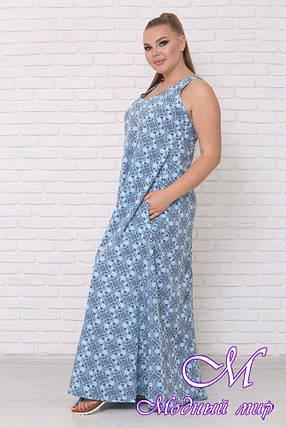 Яркое летнее платье большого размера (р. 42-90) арт. Горох, фото 2