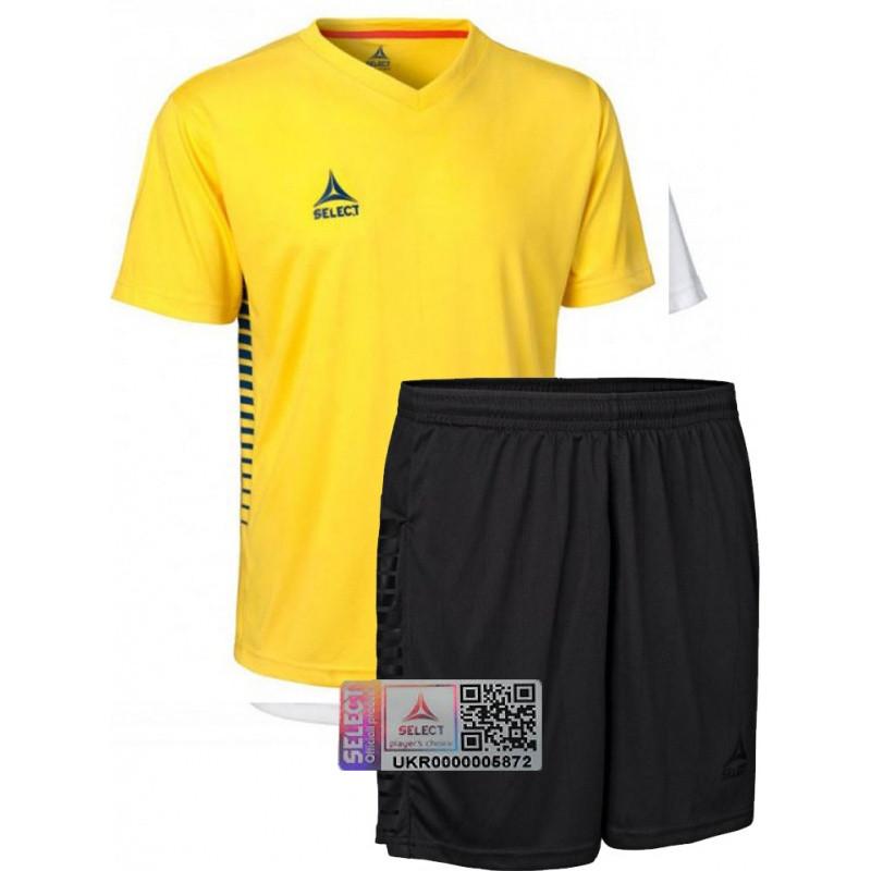 Комплект футбольной формы Select MEXICO (футболка+шорты) желтая