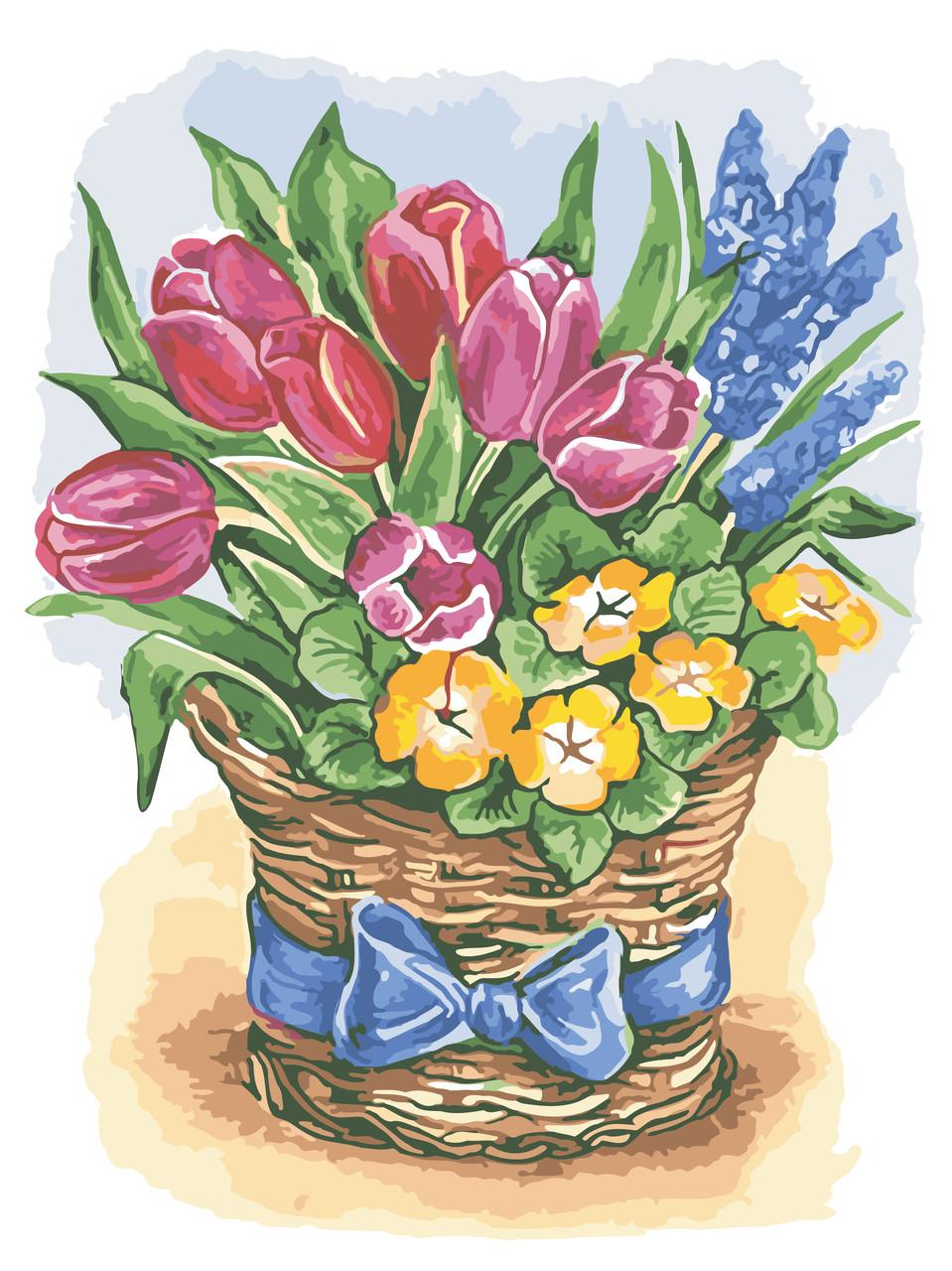 Рисование по номерам Праздничные цветы ArtStory AS0575 30 х 40 см (без коробки)