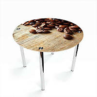 Стол кухонный стеклянный Круглый Coffee 70х70 *Эко (БЦ-стол ТМ)