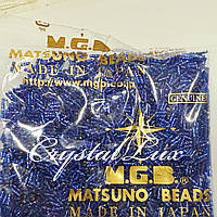 Стеклярус Matsuno витой 44-R SP-6mm 100гр Синий