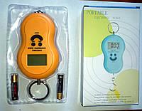 Кантер, електронні ваги 0-50 кг, колір оранжевий