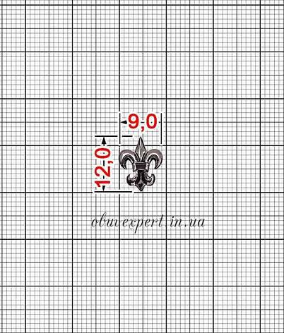 Декор мелкий Лилия 9*12 мм Черный никель, фото 2