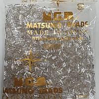 Стеклярус Matsuno витой 34 SP-6mm 100гр Silver