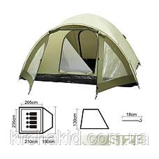 Палатка 4-х местная двухслойная,  Rock Mount 3000mm H2O, BestWay 68014, фото 2