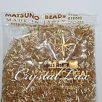 Стеклярус Matsuno витой 33 SP-6mm 100гр Champagne