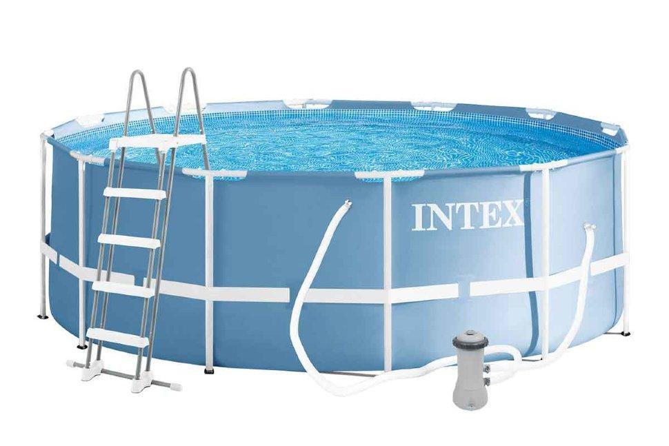 Каркасный бассейн для летнего отдыха Prism Frame Intex 26706 305Х99 см лестница насос-фильтр на 2006 л/ч