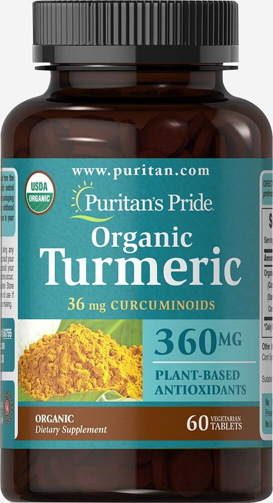 Puritan's pride Organic Turmeric Curcumin 360 mg 60 Tablets