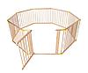 Мультиверсионный деревяный манеж - 8 панелей - длина 7 м (с желтым)