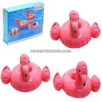 Комплект надувных подстаканников (3 шт) Intex 57500 Фламинго