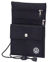 Оригинальный нагрудный кошелек Volkswagen Logo Chest Wallet, Black (MFA5739L00)