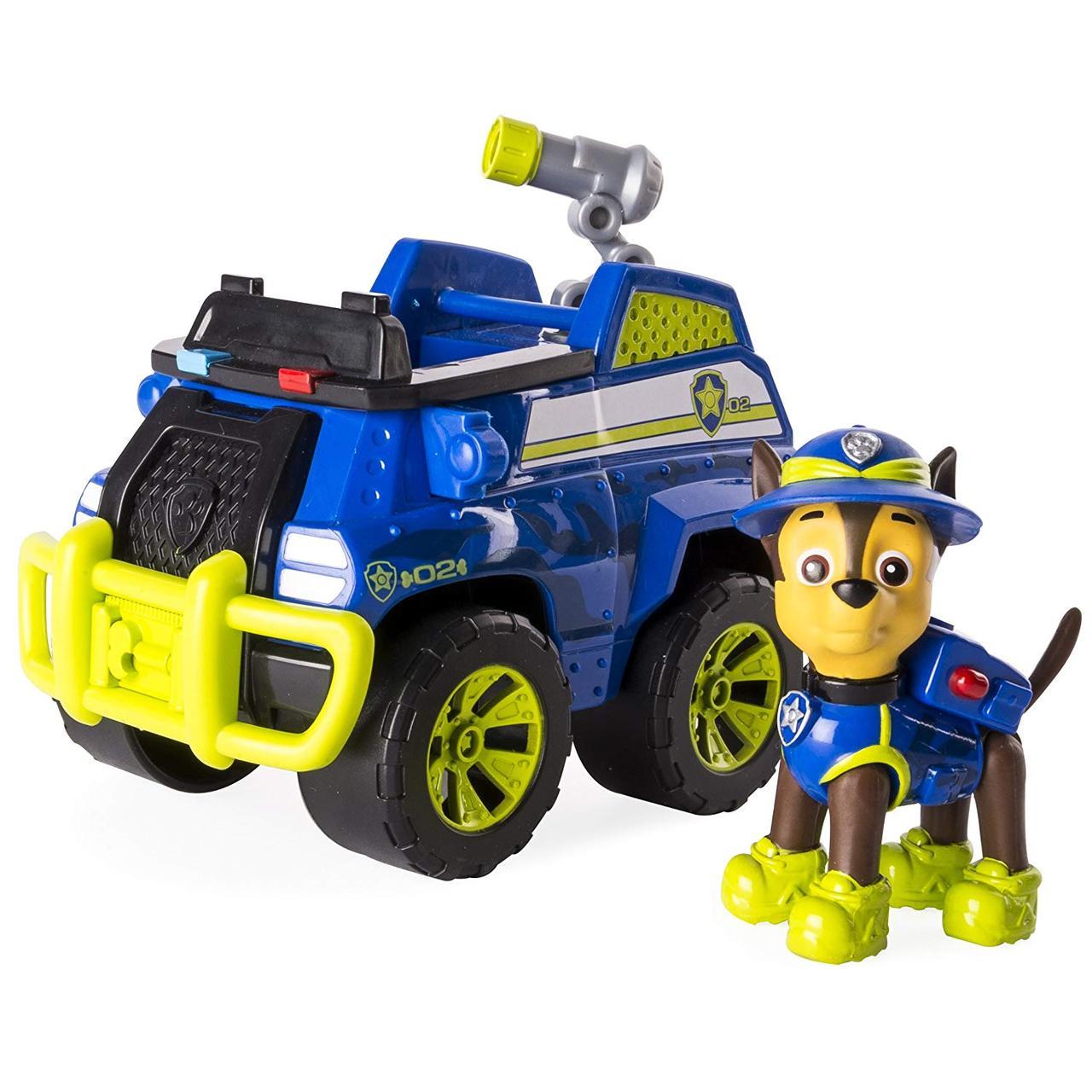 Щенячий патруль Paw Patrol Джунгли Гонщик и джип Jungle Rescue Chase's Jungle Cruiser