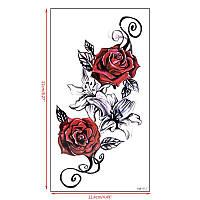 """Татуювання - наклейка """"Червона троянда"""""""