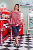 Блузка с бриджами большого размера красный верх