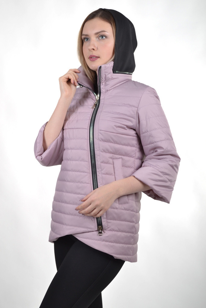 Демисезонная женская куртка KTL-122-2 сиреневая матовая
