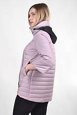 Демисезонная женская куртка KTL-122-2 сиреневая матовая, фото 2