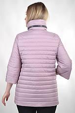 Демисезонная женская куртка KTL-122-2 сиреневая матовая, фото 3
