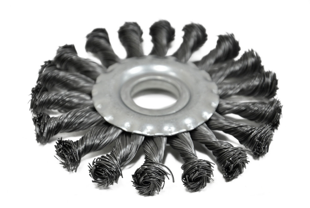 Щетка крацовка дисковая Spitce стальная закрученная 150 х 22.2 мм (18-154)