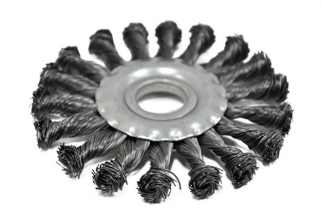 Щетка крацовка дисковая Spitce стальная закрученная 150 х 22.2 мм (18-154), фото 2