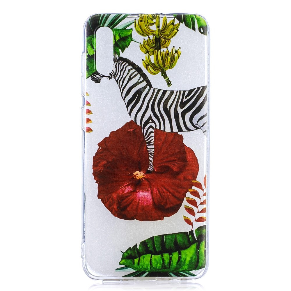 Чехол накладка для Samsung Galaxy A50 A505FD силиконовый, Зебра