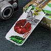 Чехол накладка для Samsung Galaxy A50 A505FD силиконовый, Зебра, фото 5
